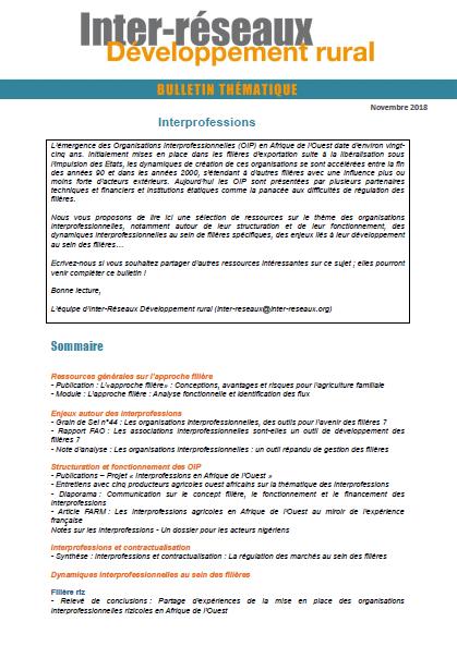 Bulletin de veille n°346 - Spécial interprofessions