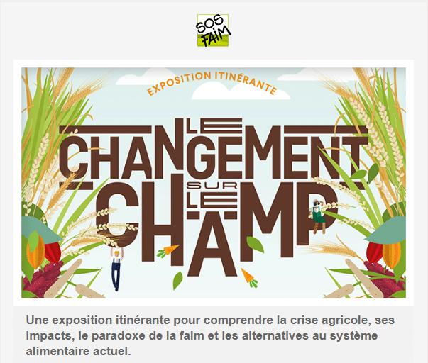 « Changement sur le champ » : SOS Faim organise une exposition sur la crise agricole
