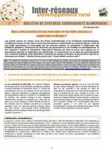 Bulletin de synthèse n°27 - Secteur privé : implications dans les politiques agricoles et alimentaires en Afrique