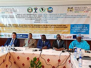 5e Rencontre Régionale de Haut Niveau pour une transhumance apaisée entre le Sahel et les pays côtiers, le RBM était de la partie