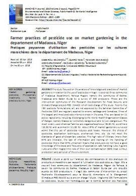 Etude : Pratiques paysannes d'utilisation des pesticides sur les cultures maraichères - Niger