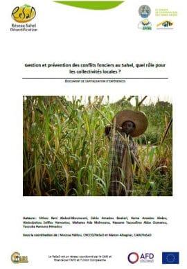 """Capitalisation : """"Gestion et prévention des conflits fonciers au Sahel"""