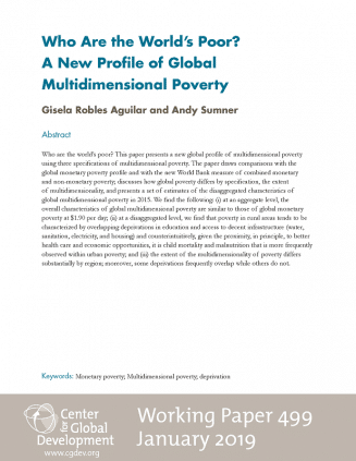 Working Papers : Who Are the World's Poor? A New Profile of Global Multidimensional Poverty