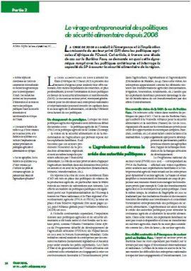 Le virage entrepreneurial des politiques de sécurité alimentaire depuis 2008