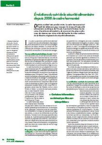 Évolutions du suivi de la sécurité alimentaire depuis 2008 : le cadre harmonisé