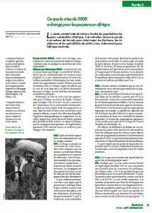 Ce que la crise de 2008 a changé pour les paysans en Afrique