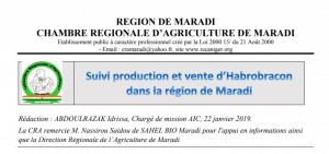 Suivi production et vente du parasitoïde Habrobracon dans la région de Maradi au Niger