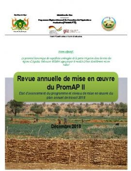 Rapport : Revue annuelle de mise en œuvre du programme de Promotion de l'Agriculture Productive