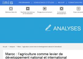 Maroc : l'agriculture comme levier de développement national et international