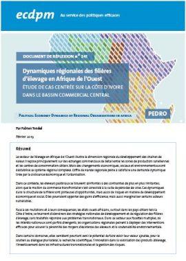 Rapport : Dynamiques régionales des filières d'élevage en Afrique de l'Ouest - Côte d'Ivoire