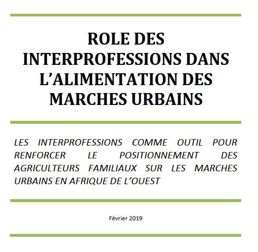 Rôle des interprofessions en Afrique de l'Ouest: rapport de capitalisation et note politique