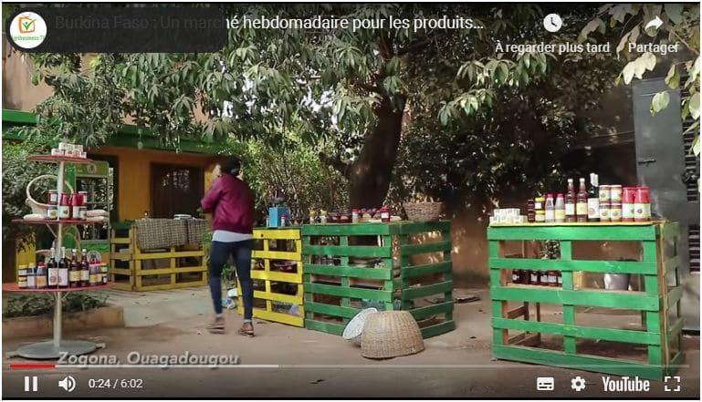 Vidéo : Burkina Faso - Un marché hebdomadaire pour les produits éco-bio