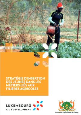 Note technique: Stratégie d'insertion des jeunes dans les métiers liés aux filières agricoles