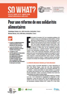 """Bulletin """"So What"""" N°9: Pour une réforme de nos solidarités alimentaires"""