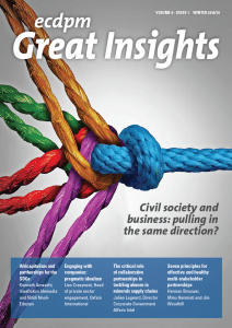 Magazine - Civil society & business: pulling in the same direction?