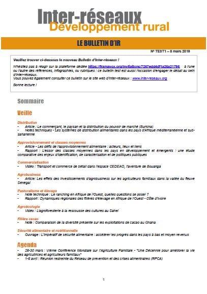 Bulletin d'IR n°1 - TEST