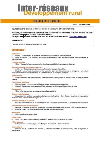 Bulletin de veille n°353