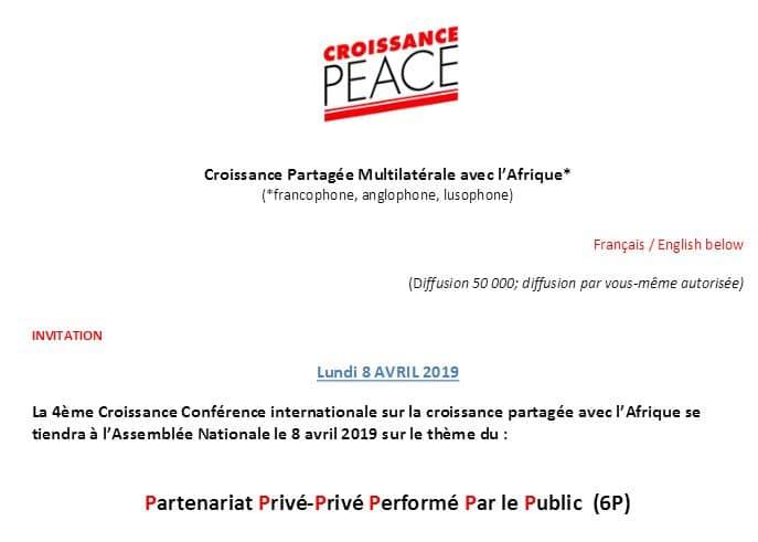 4ème Conférence internationale : Partenariat Privé - Privé Performé Par le Public (6P)