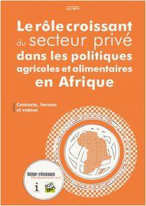 Note : Le rôle croissant du secteur privé dans les politiques agricoles et alimentaires en Afrique