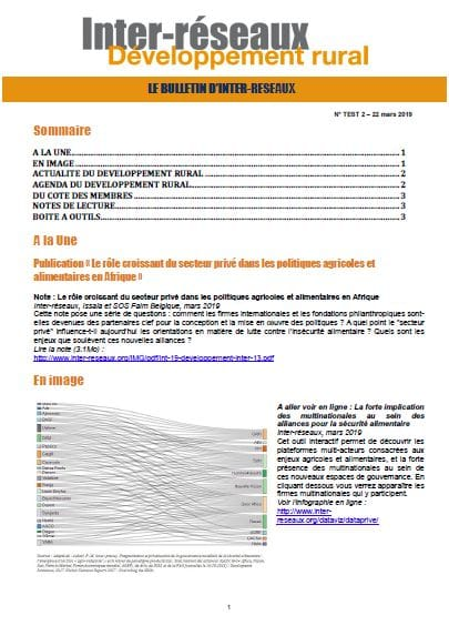 Bulletin d'IR n°2 - TEST