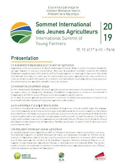 Sommet International des Jeunes Agriculteurs
