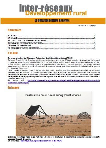 Bulletin d'IR n°3 - TEST