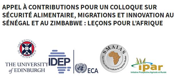 Colloque sur la sécurité alimentaire, migrations et innovation au Sénégal et au Zimbabwe : l'IPAR lance un appel à contribution