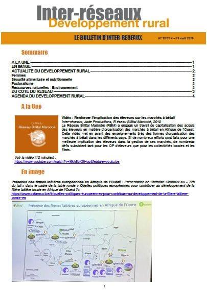 TEST - Bulletin d'Inter-réseaux n°4 - test