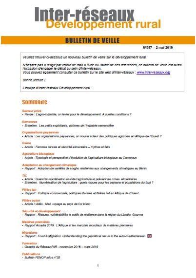 Bulletin de veille n°357