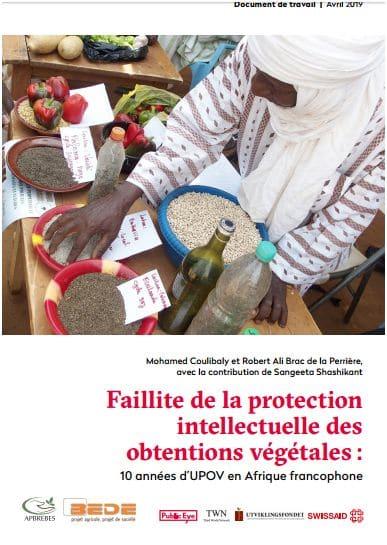 Document de travail - Faillite de la protection intellectuelle des obtentions végétales