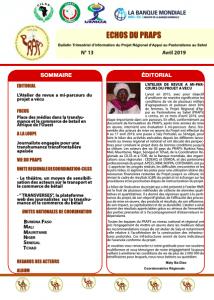 Bulletin : Echos du PRAPS n°13 - avril 2019