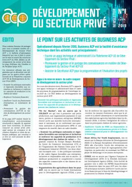 Bulletin n°1 : Développement du Secteur Privé ACP