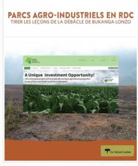 Rapport - Parcs agro-industriels en RDC: Tirer les leçons de la débâcle de Bukanga Lonzo