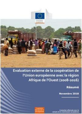 Rapport : Evaluation externe de la coopération de l'Union européenne avec la région Afrique de l'Ouest