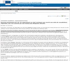 Communiqué de presse - Nouveau partenariat ACP-UE