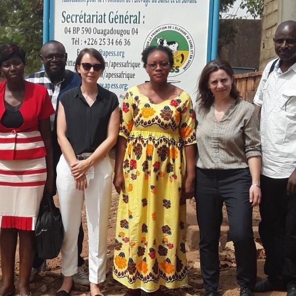 Projets « initiatives-ONG » : l'APESS a reçu à Ouagadougou une mission de suivi de l'AFD