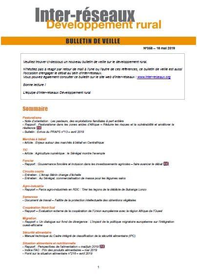 Bulletin de veille n°358