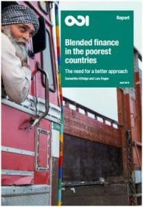 Rapport : Le financement mixte dans les pays les plus pauvres. La nécessité d'une approche améliorée
