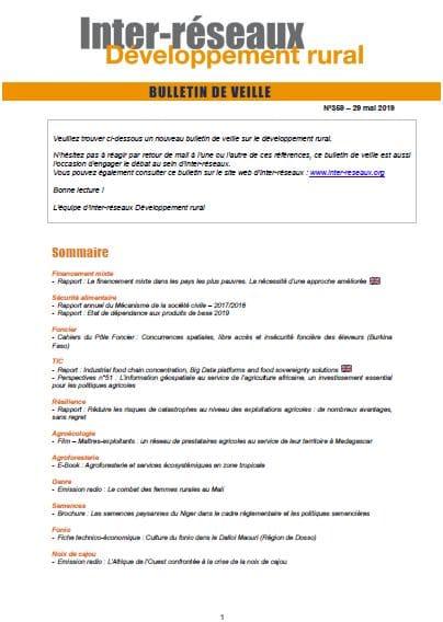 Bulletin de veille n°359