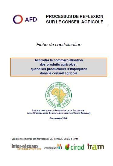 Capitalisation - Accroître la commercialisation des produits agricoles : quand les producteurs s'impliquent dans le conseil agricole