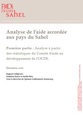 Rapport: Analyse de l'aide accordée au Sahel