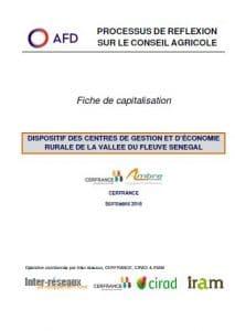 Capitalisation - Dispositif des Centres de Gestion et d'Économie Rurale de la Vallée du fleuve Sénégal
