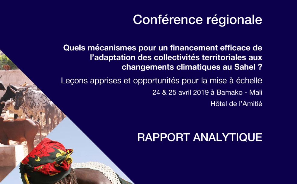 Rapport: Conclusion et leçons de la conférence régionale sur le financement climat décentralisé