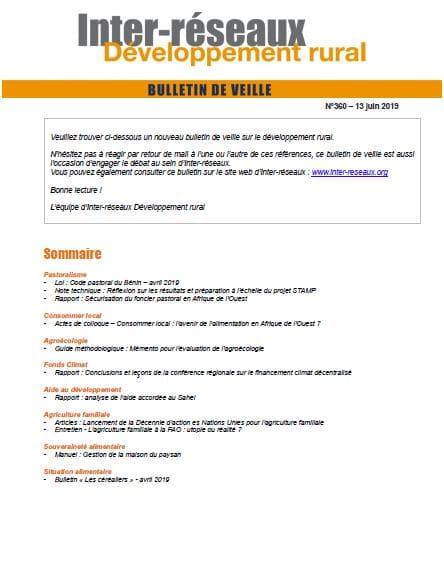 Bulletin de veille n°360