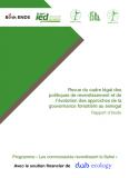 Rapport : Revue du cadre légal des politiques de reverdissement et de l'évolution des approches de la gouvernance forestière au Sénégal