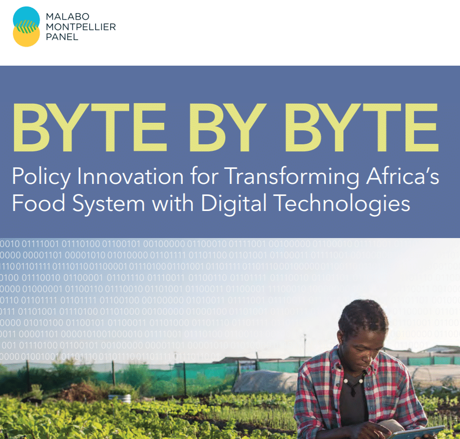 Rapport : Byte by Byte: Policy Innovation for Transforming Africa's Food System with Digital Technologies