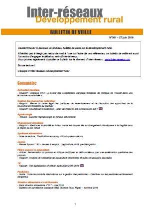 Bulletin de veille n°361