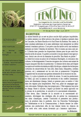 Bulletin FENOP Infos N°36