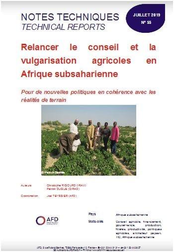 Note : Relancer le conseil et la vulgarisation agricoles en Afrique subsaharienne