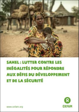 Rapport: Sahel - lutter contre les inégalités pour répondre aux défis du développement et de la sécurité